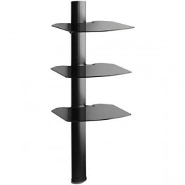 LCD Plasma TV Wall Mount 3 Glass Shelf Stand