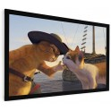 "100"" Fixed Frame Projector Screen 16:9"